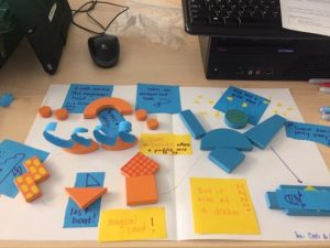 Use Imagination Pattern blocks to build a story