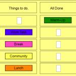 word schedule