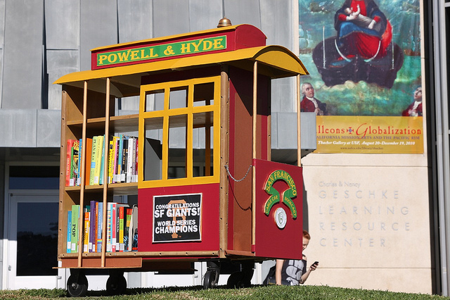 Gleeson Library Cable Car Book Cart by Shawn on Flickr