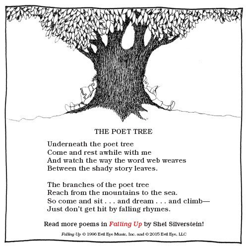 Click the picture for more poetry from Shel Silverstein.